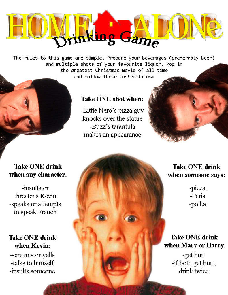 Home alone drinking game what a better way to celebrate for Home alone theme decorations