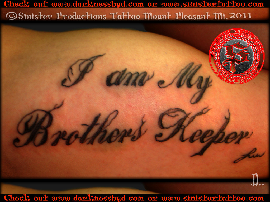 16 i am my brothers keeper tattoo irish street