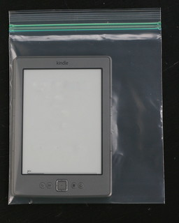 kindle in baggie for bath | by anotherlunch.com