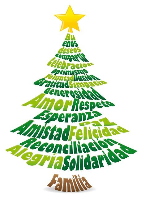 Dise o tipogr fico navidad rbol composici n vectorial - Arbol de navidad diseno ...