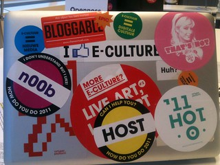 Bloggable and e-cultuur stickers | by Virtueel Platform 2006-2012