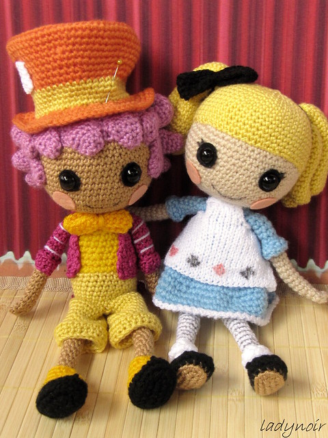 Mad Hatter Amigurumi : Lalaloopsy Alice and Hatter crocheted Flickr - Photo ...