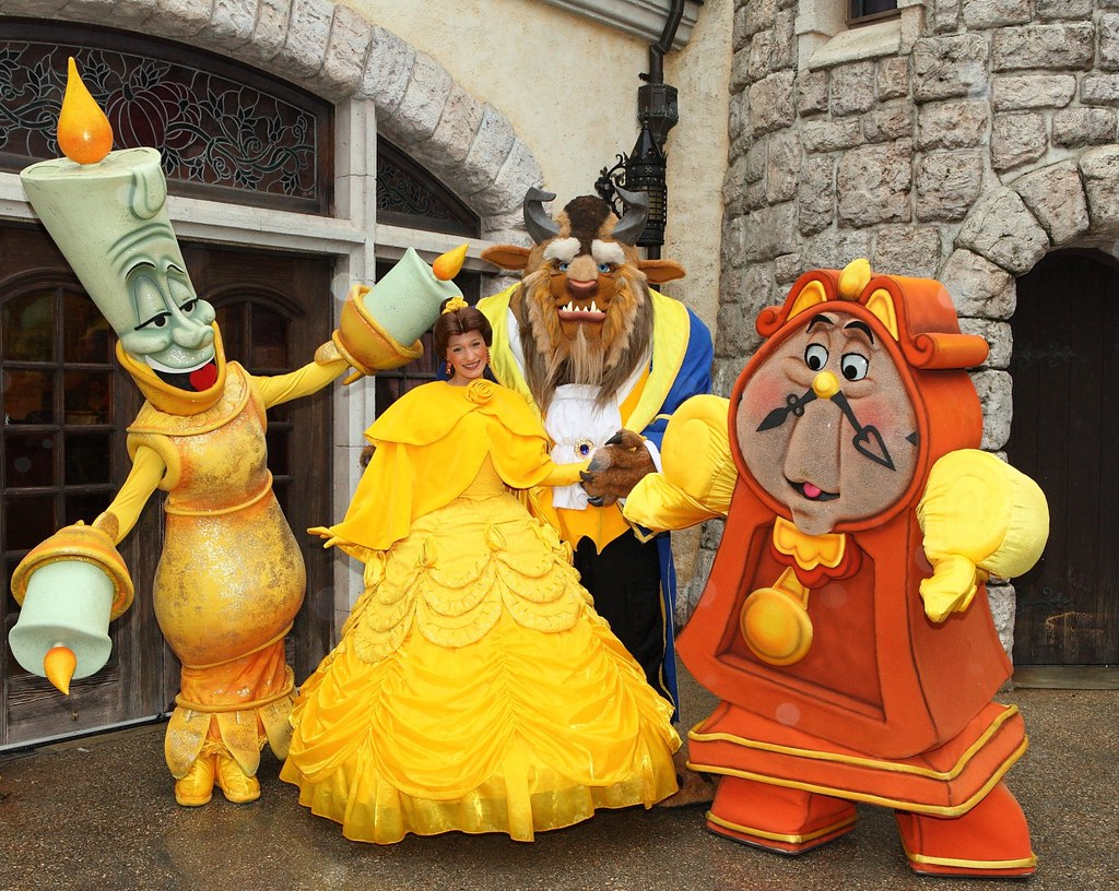 Meeting Disney S Beauty And The Beast Characters