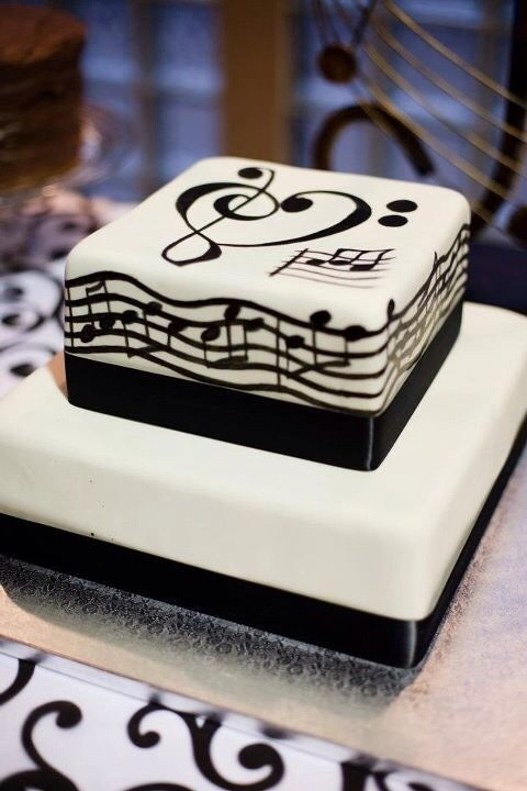 Cake Design Musical Notes : language of love groom s cake The