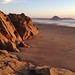 View of Morro Rock from Northpoint Beach in Golden Light