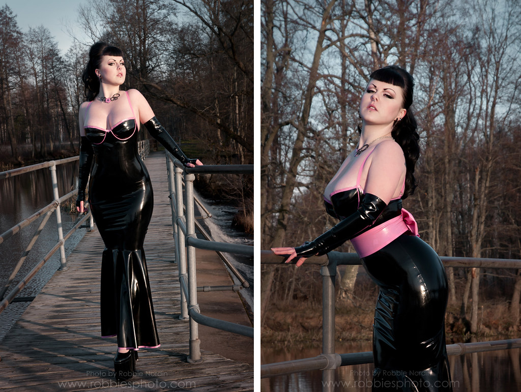 Latex Gown | Model - Fuchsia Clothing - Maebelle Latex Photo ...