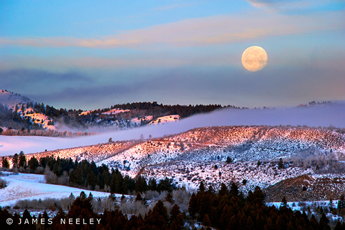 Swan Valley Moonset | by James Neeley