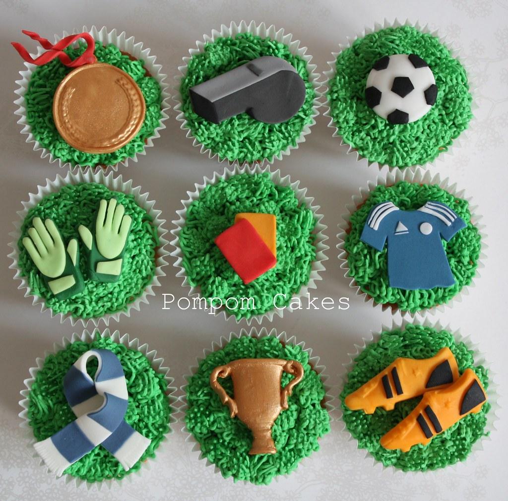 Football Themed Cupcake Cakes