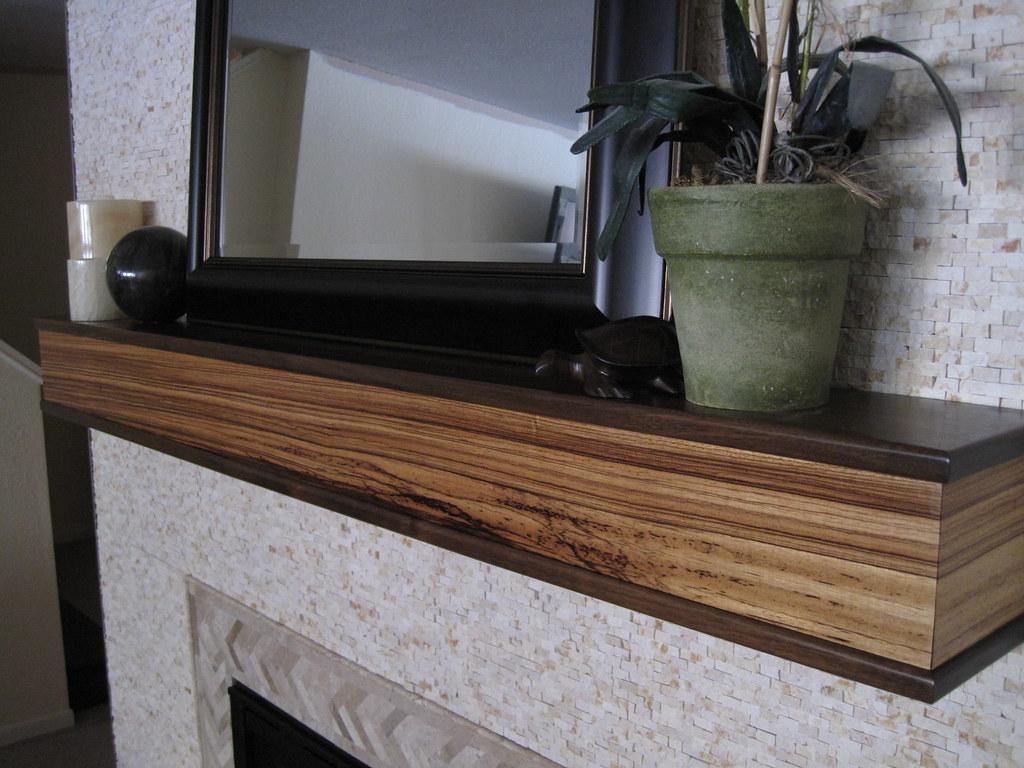 Custom Zebra Wood Amp Walnut Mantle This Beautiful