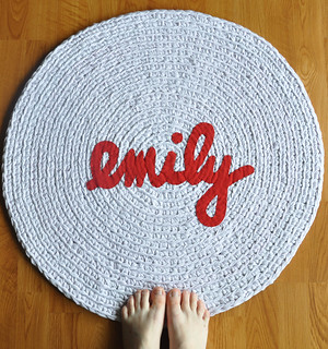 Emily Name Rug | by recyclingartistemily
