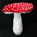 red umbrella mushroom