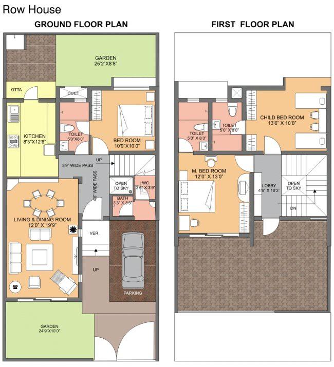 Dwarka Chakan Row House Floor Paln Ravi Karandeekar 39 S