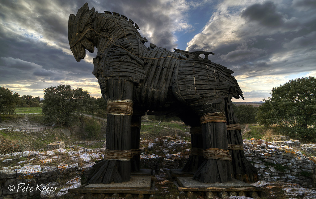 Trojan Horse  The Trojan horse in this photo was used in ...