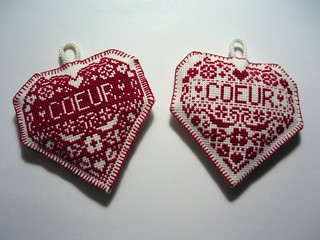 cross stitch coeurs | by rachelcreative