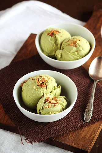 Green Tea Coconut Ice Cream | by pastryaffair