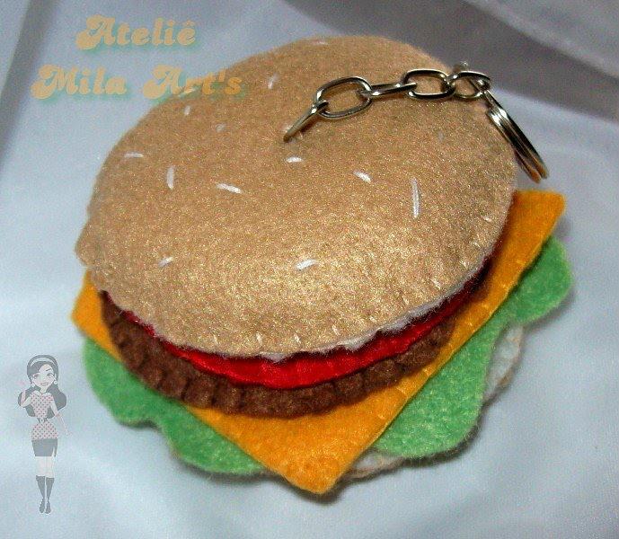 Chaveiro hamburguer de feltro   contatos: mila.artes@gmai ...   689 x 600 jpeg 174kB