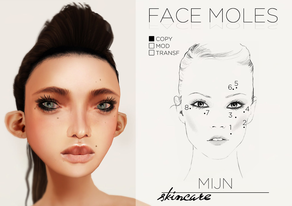 Skincare face beauty marks tattoo layer for Tattoo mole on face
