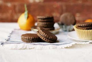 Chocolate and Bergamot Sandwich Cookies | by yossy arefi