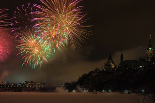 Winterlude 2012 fireworks by the Canadian Parliament | by beyondhue