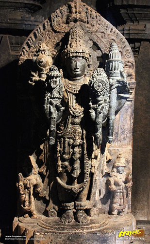 Sculpture of the Hindu god at Keshava Temple, Somanathapura, Mysore district, Karnataka, India