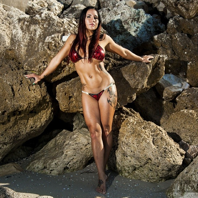 Photoshoot With Fitness Model And Team Evolution Fig