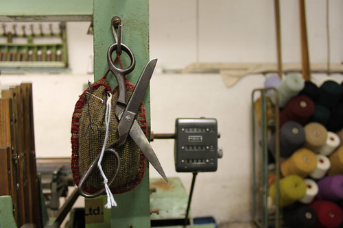 scissors on the loom