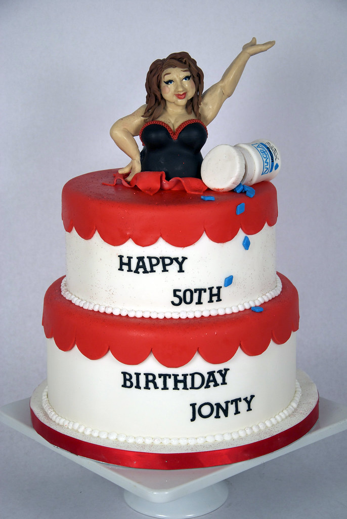 Bc4007 50th Birthday Cake Toronto A Comical 50th