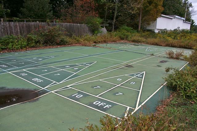 Cracking abandoned outdoor shuffleboard court | Flickr ...