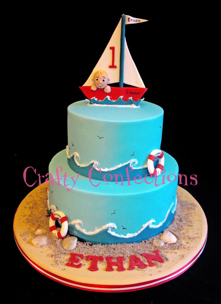 Boat Themed 1st Bithday Cake Boat Themed Bithday Cake