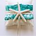 Starfish ring bearer pillow