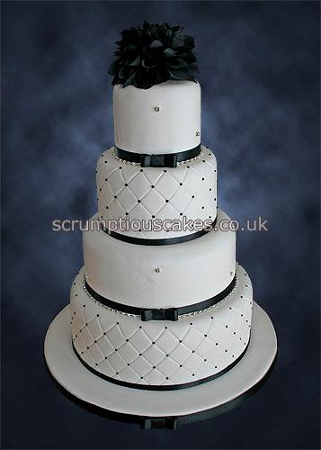 Wedding Cake 817 Black Amp White Quilted With Bling Flickr