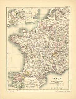 Section LVIII Map page of France Under the Ancient Regime, 1600-1790  from Historical atlas of modern Europe from the decline of the Roman empire : comprising also maps of parts of Asia and of the New world | by uconnlibrariesmagic