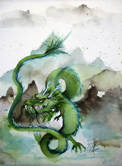 Chinese Earth Dragon 10 50 Paintings In 50 Days