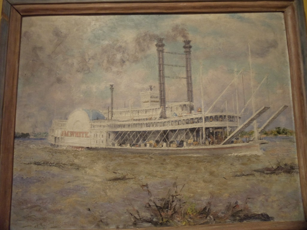Oil Painting Of The Steamboat Quot J M White Quot By Harlan Hubba