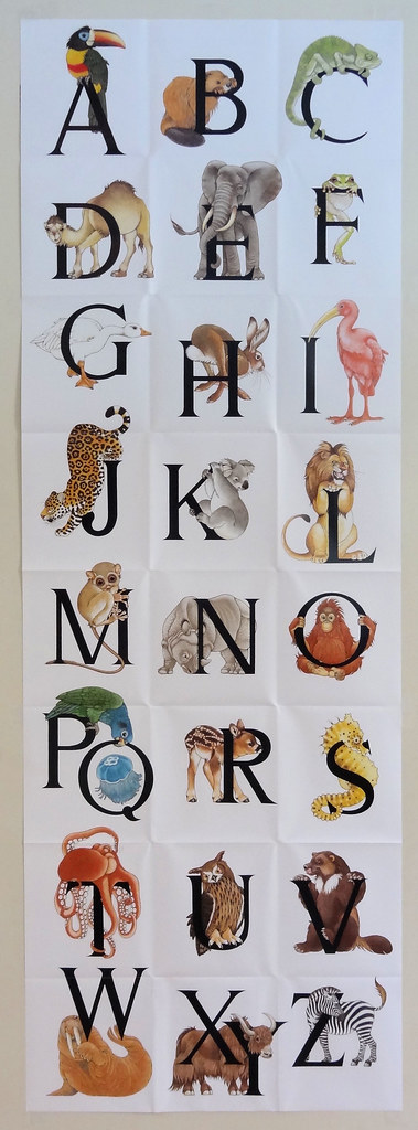 Animal Alphabet poster : a door-size poster found in a Municu2026 : Flickr