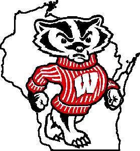 Wisconsin Badgers Bucky Outline Logo
