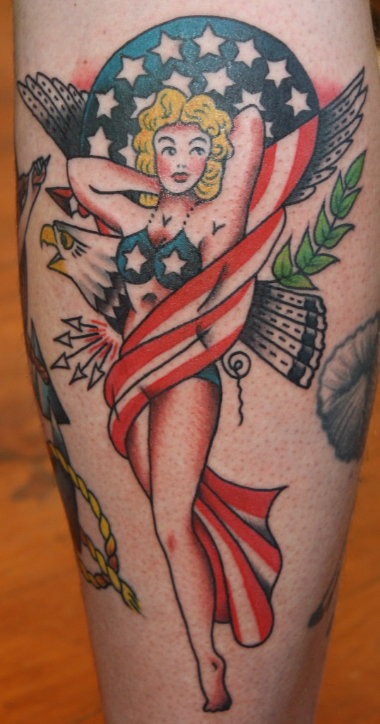 Sailor jerry patriotic pin up tattoo a gypsy rose tattoo for Sailor jerry gypsy tattoo