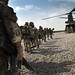 Soldiers from 1 Rifles Wait to Board a Chinook Helicopter During Op Omid Haft in Afghanistan