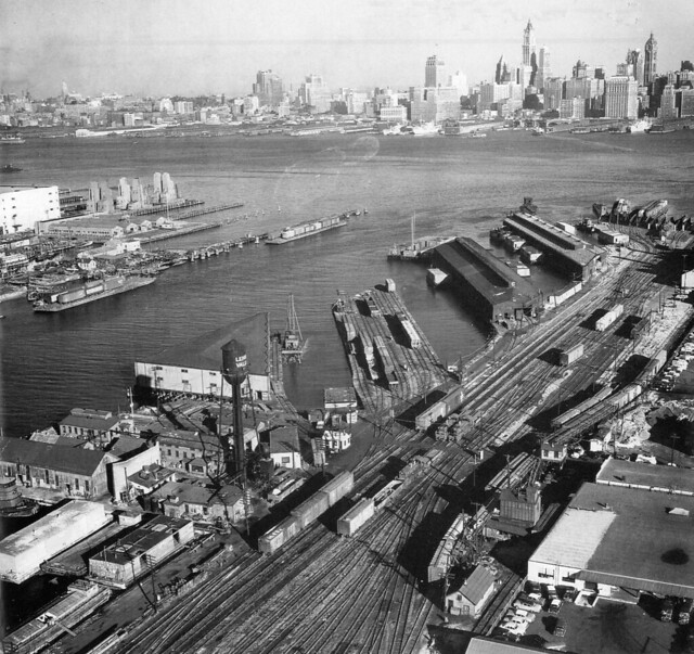 Lehigh Valley Railroad Yards At The Johnston Avenue Pier