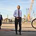 U.S. President Obama Arrives at Intel's Fab 42