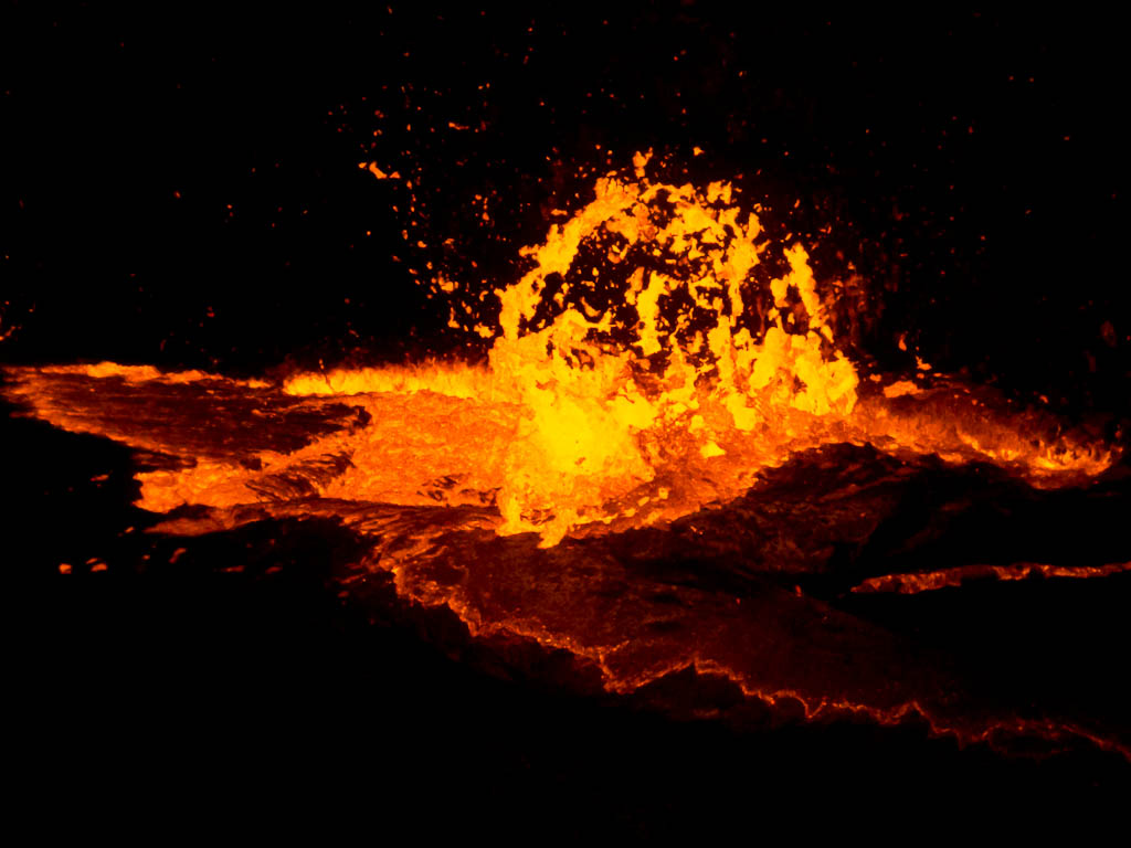 mobiele vulkaan