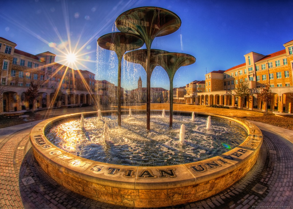 Fort Worth - TCU Campus - Frog Fountain