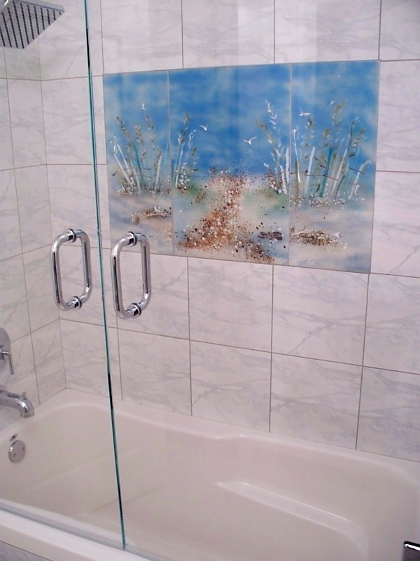 Marble Shower Tub Glass Mural Beaglesdoitbetter Flickr