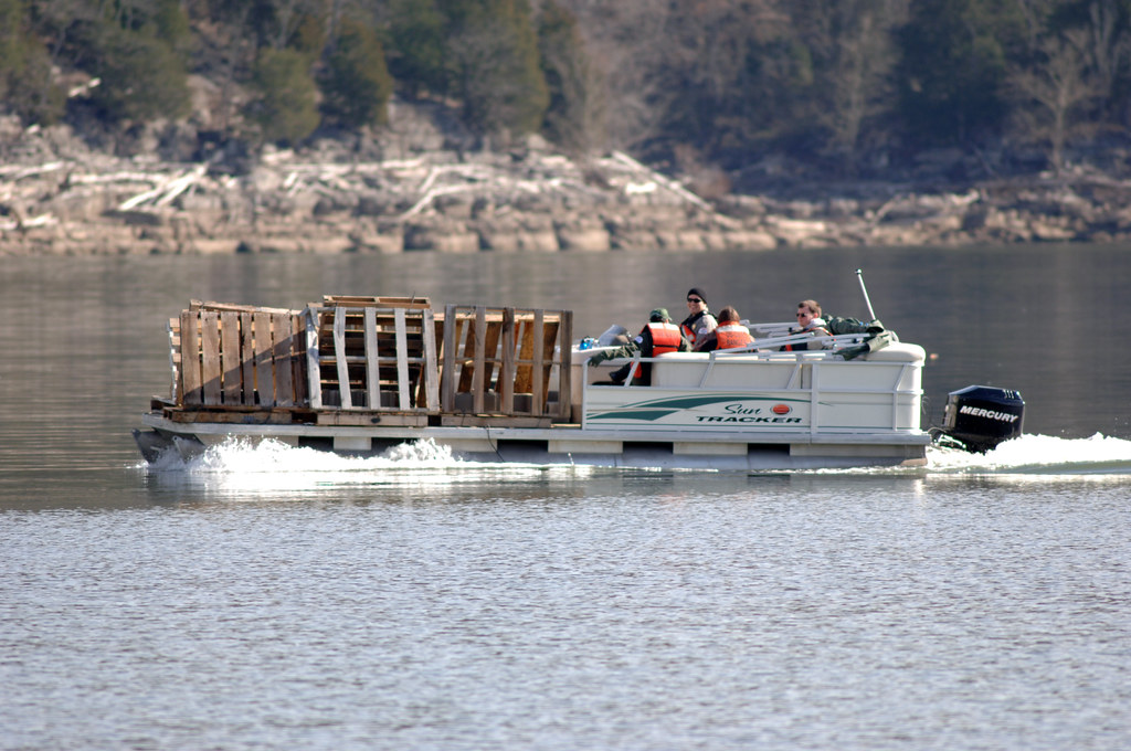 Ttu students hook up with corps on fish attractor project for Center hill lake fishing report