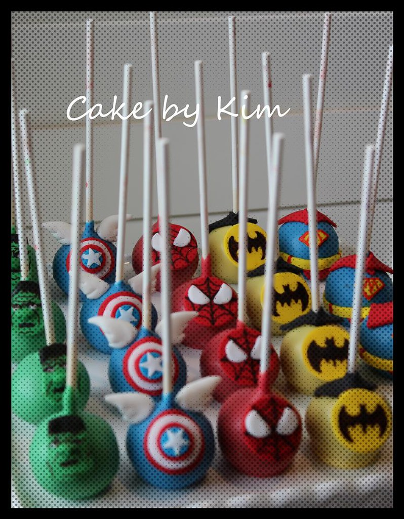 Easy Superhero Cake Pops