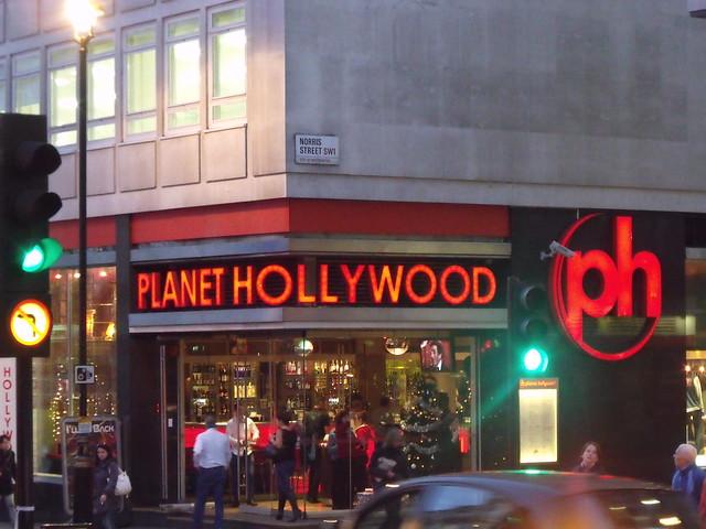 Planet Hollywood Restaurant Food