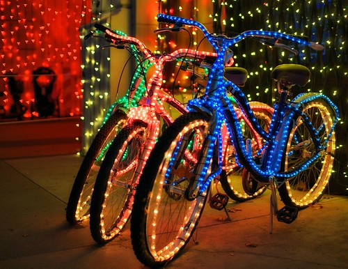 The Osborne Family Spectacle of Dancing Lights - Even The Bikes Are Lit | by Express Monorail