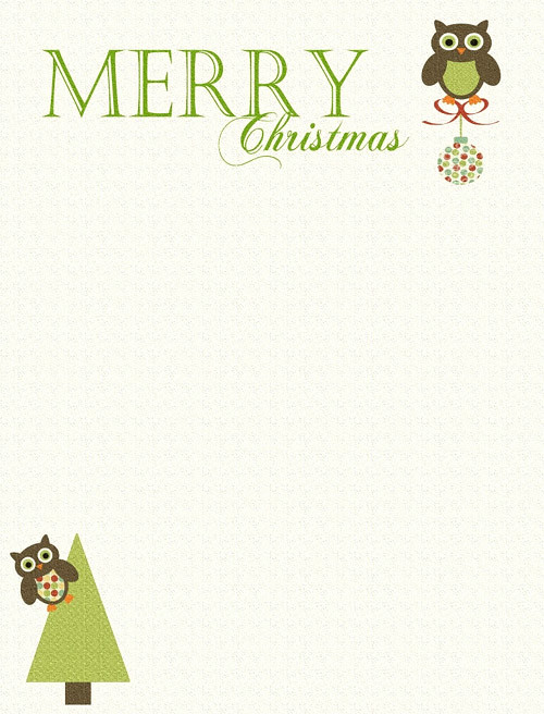 Smart image intended for christmas stationery printable