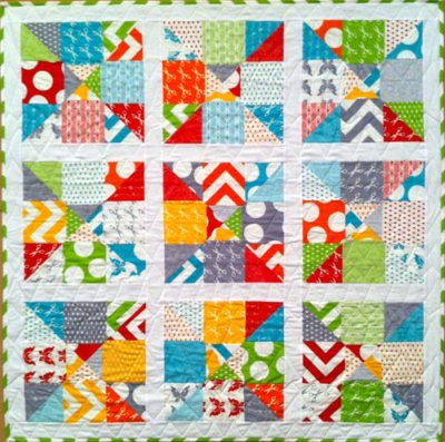 Half Moon Modern Charm Pack Quilt Made With 2 Charm