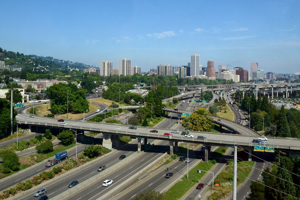 Interstate 5 as seen from the portland aerial tram - Camera world portland ...